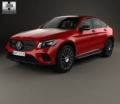 jeep mercedes red mercedes benz glc class c253 coupe amg line 2016 3d model from
