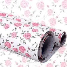 Self Stick Wallpaper by Yazi Flower Rose Flower Self Adhesive Sticker Shelf Drawer Liner