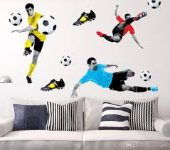 Childrens Bedroom Wall Stickers Removable Diy Removable 3d Soccer Football Wall Sticker Decal Kids Room