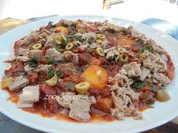 cuisine tunisienne pate au thon ojja au thon cuisine de zika