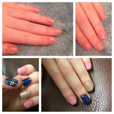 from short to long acrylic nails with gel overlay fun and summery