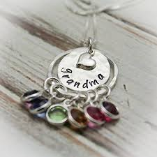 grandmother birthstone jewelry birthstone necklace grandmother necklace