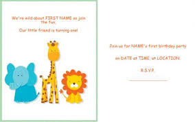 template for making birthday invitations first birthday invitations free printable tire driveeasy co