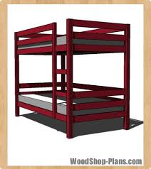 Woodworking Plans Doll Bunk Beds by Bunk Bed Woodworking Plans Woodshop Plans