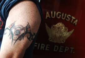 tribal and firefighter on right shoulder