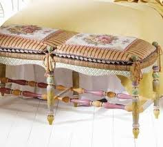 Pillow Top Bench 67 Best Mackenzie Childs Images On Pinterest Painted Furniture
