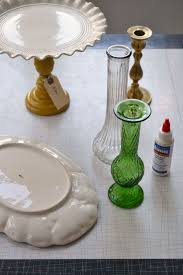 cake stands cheap make a cake stand out of thrift store plates vases and