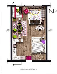 first floor rendered furniture plan client loft project at