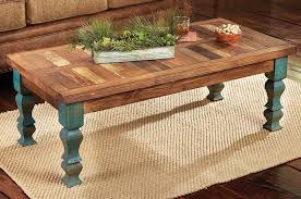 Old Wooden Coffee Tables by Old Wood Turquoise Coffee Table
