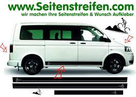 vw minivan bike biker side stripes sticker decal graphic decor set for vw