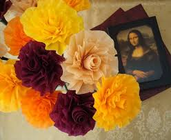 hues of orange autumn crepe paper roses hues of orange yellow burgundy and