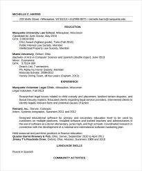sample legal resume template 13 free documents in pdf word