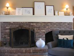 aged brick fireplace