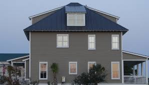 metal roof on grey siding home accurate metal roofing color