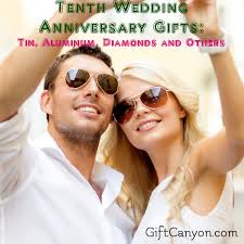 tenth anniversary gifts tenth wedding anniversary gifts tin aluminum diamonds and