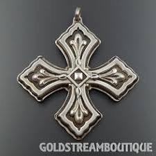 details about 1972 reed u0026 barton sterling silver christmas cross