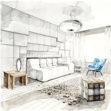 interior sketches by our teacher elena ivannikova on behance