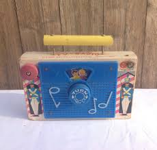 vintage fisher price tv radio wind up musical toy 148 from the