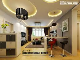 Modern False Ceiling Designs For Living Room Interior With LED - Ceiling design for living room