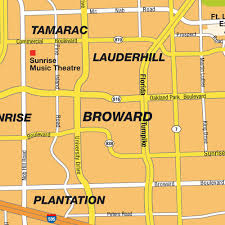 Florida City Map Map Fort Lauderdale Fl City Center Florida Usa Central
