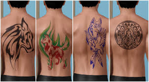 mod the sims wolf tattoos