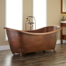 isabella copper double slipper clawfoot tub bathroom
