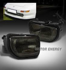 toyota mr2 fog lights 91 95 toyota mr2 bumper fog lights lamps smoke w wiring harness left