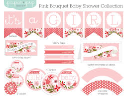 printable to print pinterest pink bouquet baby shower