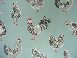 Duck Egg And Gold Curtains Clarke U0026 Clarke Rooster Duck Egg Cotton Curtain Fabric