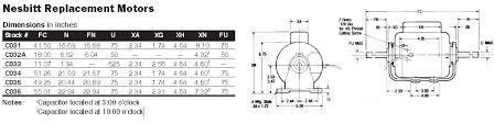48y frame fan motor century electric motor c032a 1 8 hp 850 rpm 48y frame srvc