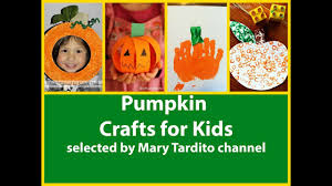pumpkin crafts for kids u2013 halloween kid crafts ideas youtube
