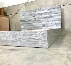 Reclaimed Wood Headboard King Driftwood Headboard Diy The Grey Finished Bed Horizontal Staggered