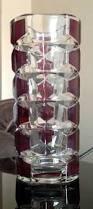Ruby Vases Large Vintage 9 5 Inch J G Durand Geometric Ruby Red U0026 Clear