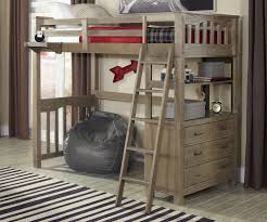 bedroom double bunk bed with desk and full size loft bed with desk