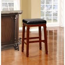 linon home decor kennedy 30 in dark cherry cushioned bar stool