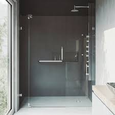 48 Inch Glass Shower Door Vigo Pirouette 48 Inch Frameless Pivot Shower Door Clear Chrome
