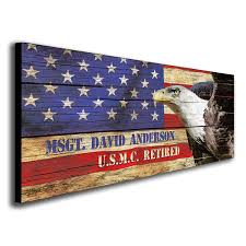 wooden american flag wall represent your country with
