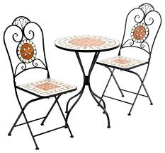 Cast Iron Bistro Table And Chairs Mosaic Patio Sets Sale Vulcano 3 Piece Bistro Set 28 1303 Mosaic