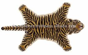 wool handmade tiger skin shape tufted rugs for kids buy animal