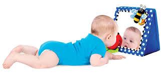 sassy floor mirror blue baby toys baby