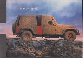 the legend grows jeep wrangler unlimited mechanical brochure 2004