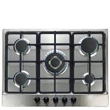 sia ssg701ss 70cm 5 burner stainless steel gas hob with wok burner