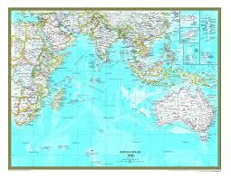 Map Of Oceans Indian Ocean Political Atlas Wall Map Maps Com