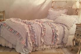 simply shabby chic pintuck ruffle full queen quilt pillow sham
