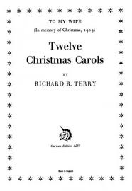 r r terry twelve carols satb presto sheet