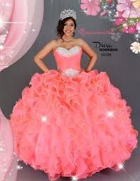 coral pink quinceanera dresses neon coral princess quinceanera dress 10184qm quinceanera mall