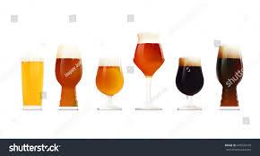beer glasses set different types beer stock illustration 470520149