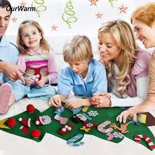 ourwarm new year gifts kids diy felt christmas tree decorations