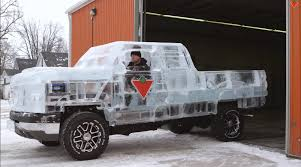 first chevy video this chevrolet silverado is completely made of ice watch