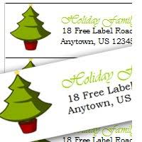 christmas mailing labels template word best business template